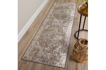 27X90  Rug-Traditional Lustre Sheen Brass