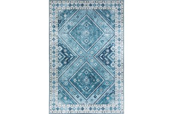 108X156 Rug-Diamond Traditional Lustre Sheen Teal