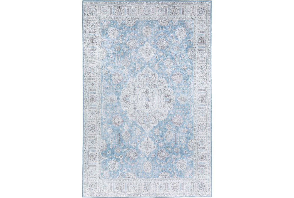 96X120 Rug-Traditional Lustre Sheen Light Blue