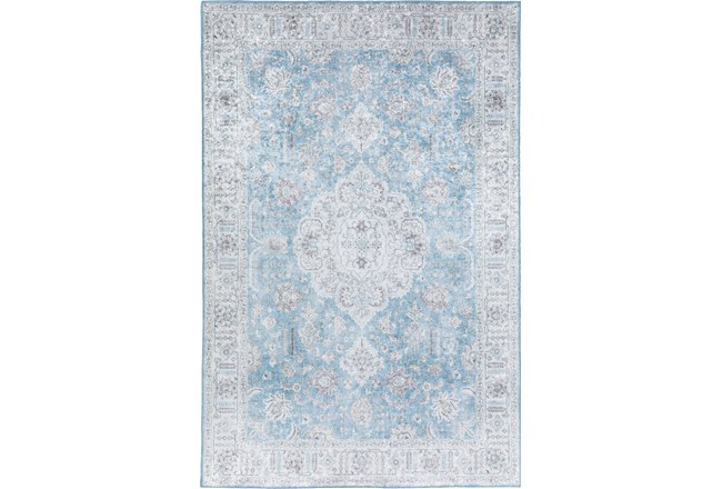 96X120 Rug-Traditional Lustre Sheen Light Blue - 360