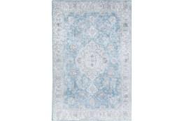 108X156 Rug-Traditional Lustre Sheen Light Blue