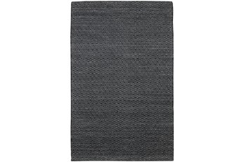 108X156  Rug-Diamond Metallic Flat Weave Black