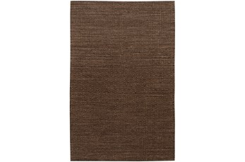 42X66 Rug-Diamond Metallic Flat Weave Chocolate
