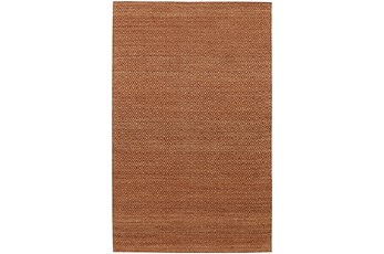 108X156 Rug-Diamond Metallic Flat Weave Copper