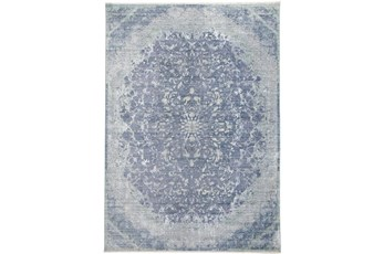 120X168 Rug-Transitional Medallion Blue/Turquoise