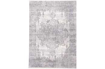 48X72 Rug-Faded Medallion Gray