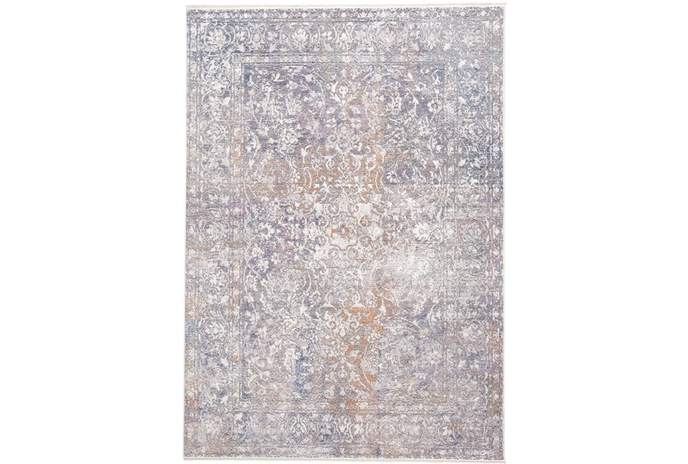 60X96 Rug-Floral Damask Sunset