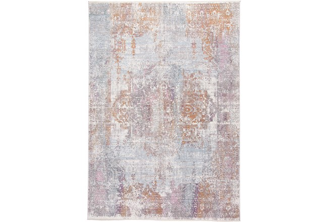 60X96 Rug-Faded Medallion Sunset - 360