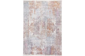 94X120 Rug-Faded Medallion Sunset