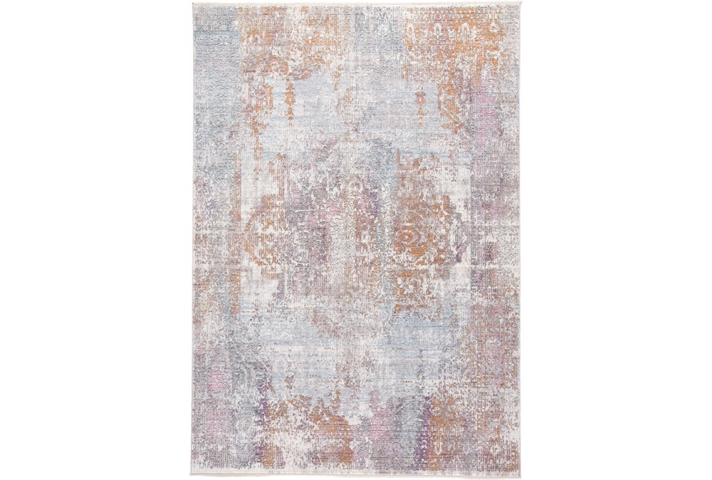 120X168 Rug-Faded Medallion Sunset