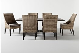 Panama Outdoor Rectangle 7 Piece Dining Set With Capri II Chairs