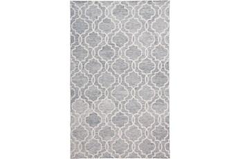60X96 Rug-Quatrefoil Grey/Ivory