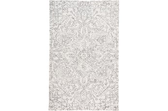 60X96 Rug-Symmetrical Detail Ivory/Charcoal