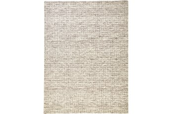 60X96 Rug-Small Wool Grid Ivory