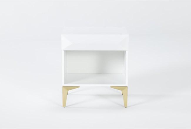 Aria White File Cabinet - 360