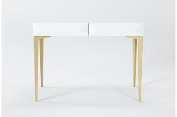 "Aria White 40"" Desk"
