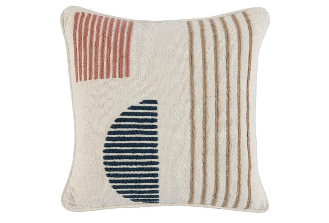 Accent Pillow- Clay Multi Modern Shapes 18X18 - 360