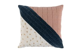 Accent Pillow -Clay Multi Modern Patchwork 22X22