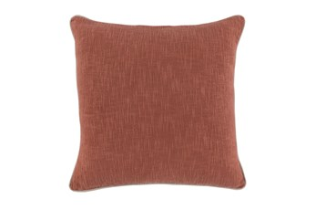 Accent Pillow-Clay Cotton Slub With Linen Trim 22X22