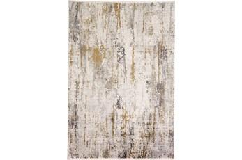 58X94 Rug-Faux Bois Ivory/Grey
