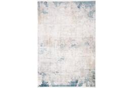 58X94 Rug-Pattern Overlay Ivory/Blue