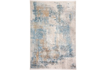78X114 Rug-Pattern Overlay Blue/Grey