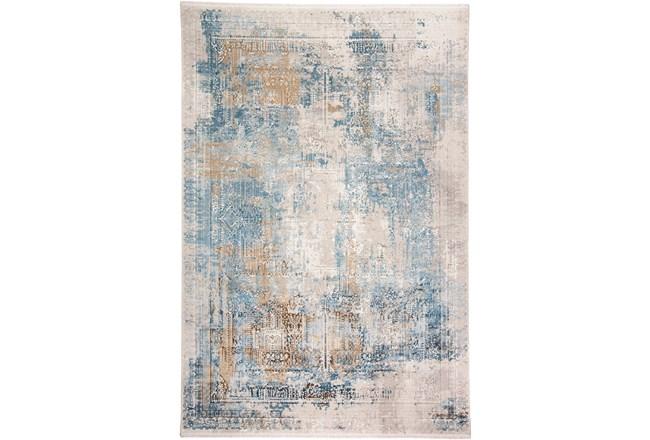 58X94 Rug-Pattern Overlay Blue/Grey - 360