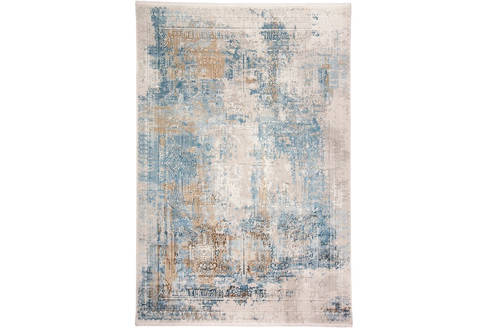 37X120 Rug-Pattern Overlay Blue/Grey