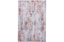 58X94 Rug-Faux Bois Ivory/Red
