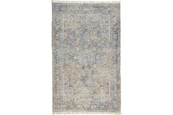 90X114 Rug-Multi Faded Traditional Beige