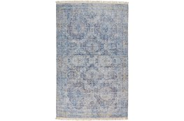 120X168 Rug-Faded Traditional Blue