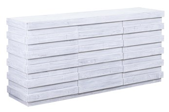 "White Wash Plinth 3 Dimensional 72"" Sideboard"