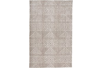 60X96 Rug-Micro Fiber Geometric Brown