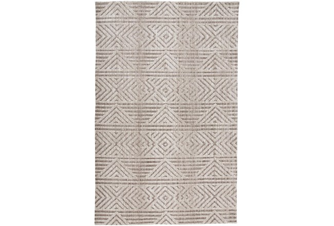 60X96 Rug-Micro Fiber Geometric Brown - 360