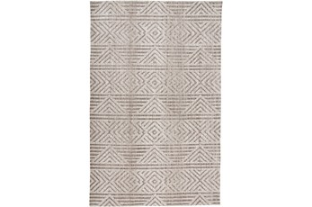 96X120 Rug-Micro Fiber Geometric Brown