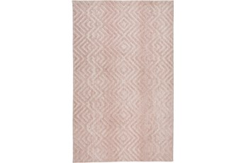 60X96 Rug-Micro Fiber Diamonds Blush