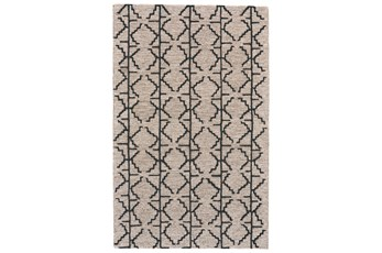 30X96 Rug-Tribal Geometric Charcoal/Grey