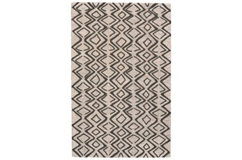 60X96 Rug-Tribal Geometric Charcoal/Taupe