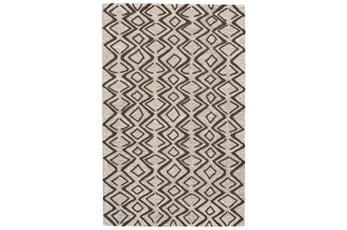 96X132 Rug-Tribal Geometric Charcoal/Taupe