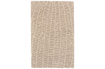 114X162 Rug-Tribal Web Ivory/Grey