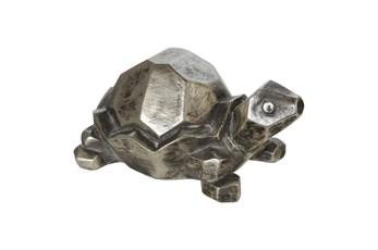 4 Inch Silver Turtle Figurine