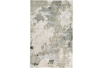 60X96 Rug-Contemporary Ivory/Grey