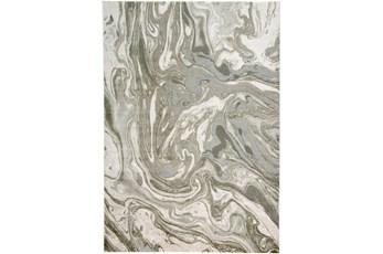 60X96 Rug-Marble Swirl Light Grey