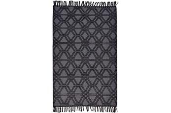 93X117 Rug-Textered Boho Charcoal