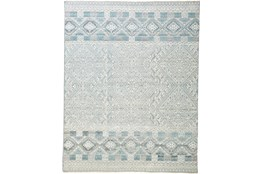 30X96 Rug-Hand Knotted Wool Grey/Blue