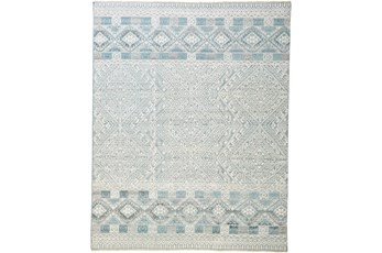 30X120 Rug-Hand Knotted Wool Grey/Blue