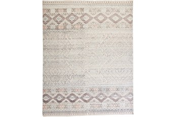 102X138 Rug-Hand Knotted Wool Blush/Ivory