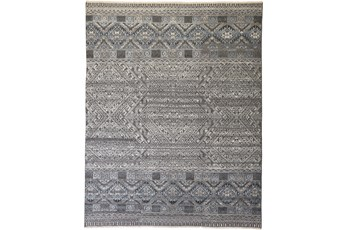 66X102 Rug-Hand Knotted Wool Blue/Grey