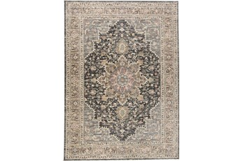 59X92 Rug-Traditional Medallion Grey/Charcoal