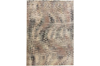 59X92 Rug-Multi Abstract Charcoal